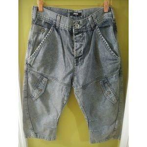 ASOS dropcrotch denim shorts